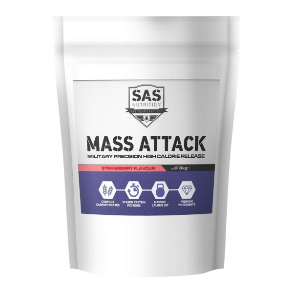 SAS Nutrition - Mass Attack Strawberry